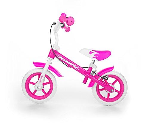 """MILLY MALLY Dragon Z Hamulcem Niñas Ciudad Acero Rosa, Blanco bicicletta - Bicicleta (Ciudad, Acero, Rosa, Blanco, 25,4 cm (10""""), Sin Cadena, Freno de Mano)"""