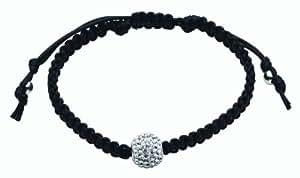 Dew Sterling Silver Crystal Ball On Adjustable Cord Bracelet 78195CCC06 of 24cm