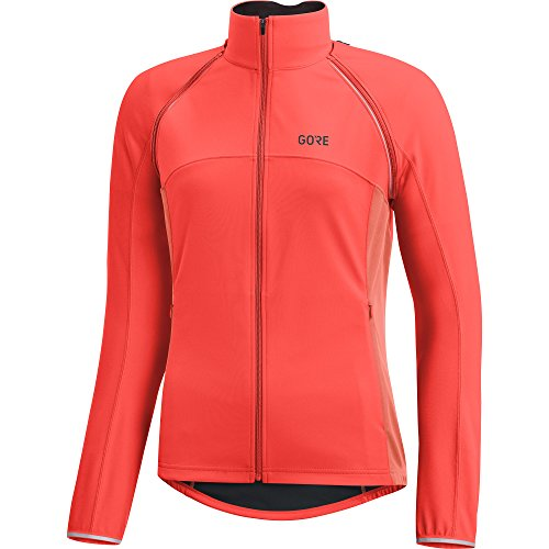GORE WEAR Damen C3 Windstopper Phantom Zip-Off Jacke, lumi orange/Coral Glow, 36