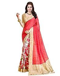 Buyonn Art Silk With Blouse Piece( Saree102, Multi-Coloured ,Free Size)