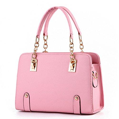 Sacchetti di spalla delle borse di cuoio dei sacchetti di Tote di modo delle signore delle nuove donne di disegno caldo di lusso Rosa