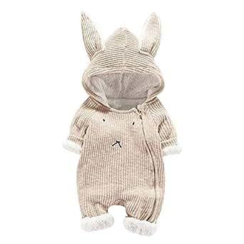 Elecenty Tuta Elegante Vestiti tuta pagliaccetto 3D con cappuccio fumetto neonata neonato ragazza Bambini Manica Lunga