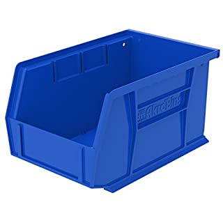 Akro-Mils 30237BLUE Plastic Storage Stacking Hanging Akro Bin, 9-1/4-Inch by 6-Inch by 5-Inch, Blue