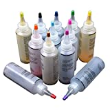 Tie Dye Kit, 12 stks Niet giftig Een Stap Textiel Verven Kleding Graffiti Accessoires Permanent Pigment Kleurrijke Spiraal Jacquard DIY Stof Ambacht free size As Picture Show