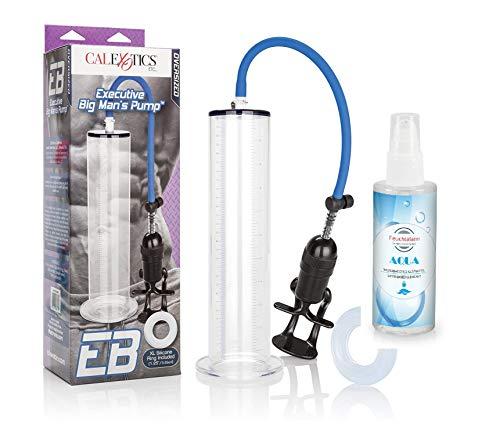Feuchtalarm - Hochwertige extragroße Penispumpe mit Acrylzylinder, Schnellentlüftungsventil und benutzerfreundlichem Griff aus ABS