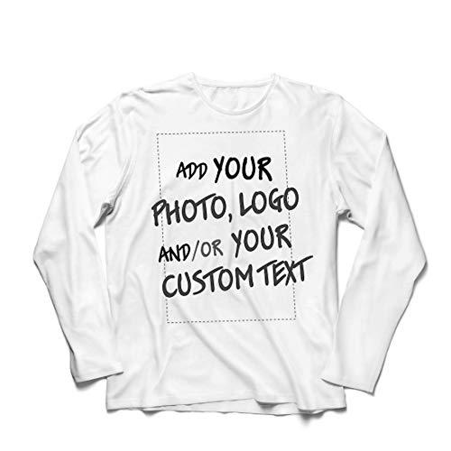lepni.me Herren T Shirts Individuelles personalisiertes Geschenk, Firmenlogo, eigenes Design oder Foto hinzufügen (XS Weiß Mehrfarben)