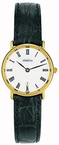 Michel Herbelin Unisex Erwachsene Analog Uhr mit Leder Armband 16845/P01