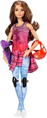 Image of Barbie DVF70 made to Move Skateboarder Doll