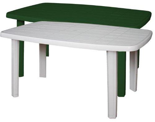 sorrento tavolo rettangolare da giardino in resina bianco