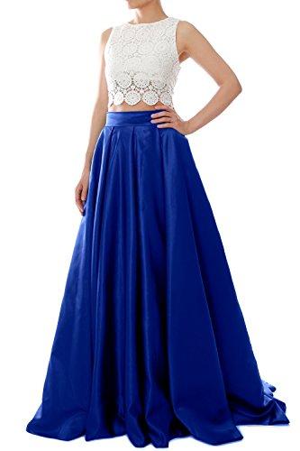 MACloth - Robe - Ajourée - Femme Bleu - Bleu marine