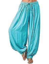 Amazon.es  Pantalones Hippies - Azul   Pantalones   Mujer  Ropa c1cfdd779287