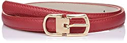 Lino Perros Womens Belt (LWBE00452RED_95)