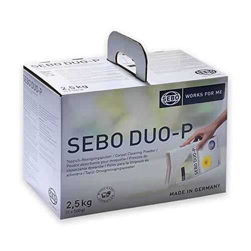 SEBO 0472 SE duo-P - 5 x 500g Teppich REINIGUNGSPULVER Teppichschnee 50-100 qm