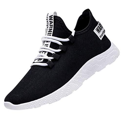 Herren Sneaker schnürhalbschuhe atmungsaktiv, flach Schuhe Sport Laufschuhe Sommer Freizeit Sunnyuk
