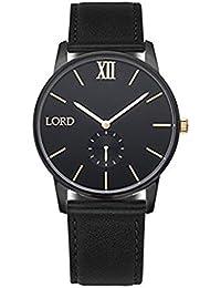 Lord Timepieces - Reloj. Solitude negro dorado.