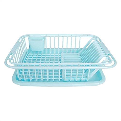 &étagère de rangement Ensemble de vaisselle Cuisine Égout en plastique L'étagère à eau Grand potelet de fuite Boîte de rangement Régulation de l'eau Arrosage Plats de plaques fraîches Rack de finition