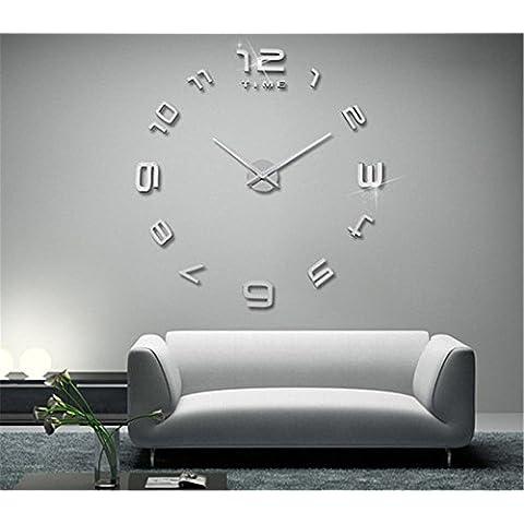GYN Moda creativa continental 3D decoración acrílico espejo reloj minimalista pared pegatina reloj artístico decoración decoración hogar BRICOLAJE,