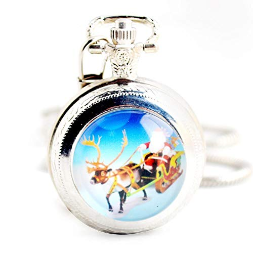 Schlitten Tasche (DBBKO taschenuhr Taschenuhr Weihnachten Schlitten kleine Tasche Uhr verkettete Liste)