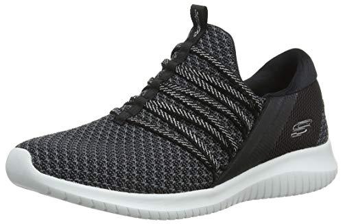 Skechers Damen Ultra Flex Bright FUTURE-12849 Sneaker, Schwarz (Black/Weiß BKW), 41 EU