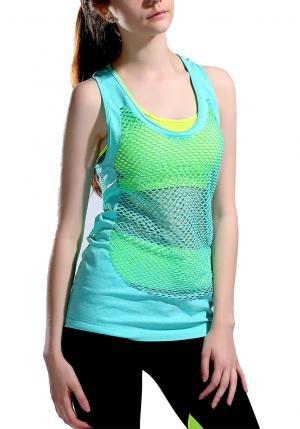 Fitness Débardeur de Sport Top Yoga Femme T-shirt sans manch 4