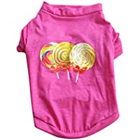 Crewell Spring - Camiseta de Verano para Perro, Estampado de Algodón, Camiseta para Cachorros, 3, Large