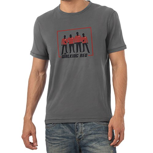 Texlab The Walking Red - Herren T-Shirt, Größe L, - Trek Shirt Star Red