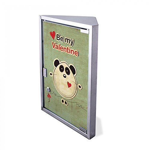 #Edelstahl Medizinschrank Eckschrank abschließbar 30×17,5x45cm Badschrank Hausapotheke Arzneischrank Bad Be My Valentine#
