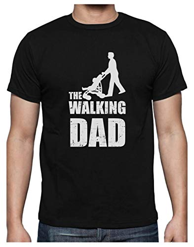 Green Turtle T-Shirts Camiseta para Hombre- The Walking Dad - Regalo Divertido para Papá Padre Primerizo Large Negro