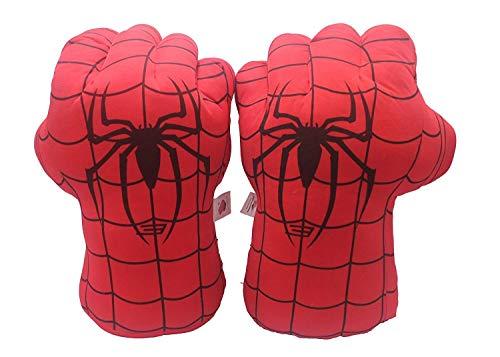 1 Paar Kinder Boxen Handschuhe Spiderman Spielzeug Superheld Spider Man Handschuhe, Incredibles Spiderman Kostüm Cosplay Puppen - Rot, One Size