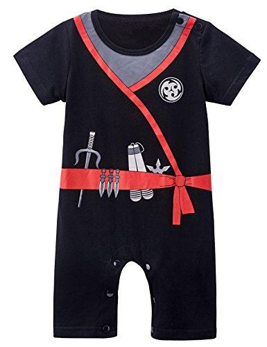 Mombebe Baby Jungen Ninja Kostüm Stramplere (3-6 Monate, Ninja)