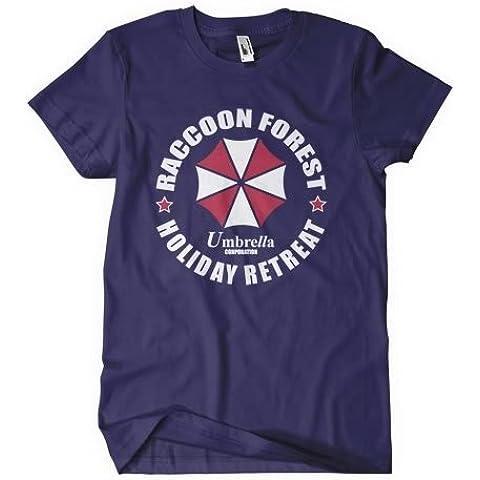 Resident Evil t shirt inspirado en el juego y película–mapache en color azul marino