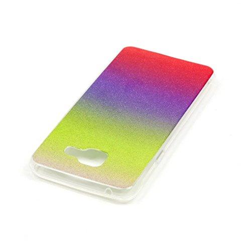 KSHOP Case Cover Stampa Custodia Protettiva per iphone SE /iphone 5 /iphone 5SShell Carcasa Trasparente Ultra Flessibile Colorato Ammortizzante Shock-Absorption Conchiglia - Bianco Blu glitter09