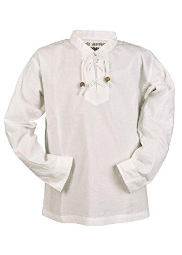 Kinder Mittelalter-Hemd Colin Kinderkleidung Ritterhemd LARP Mittelalter Fasching (Natur/128)