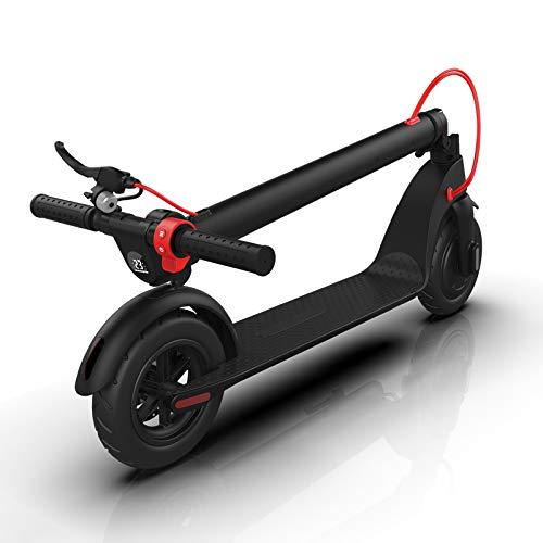 CHECHE Elektro Scooter City Elektroscooter mit 25 Km/h Geschwindigkeit und 30 Km Reichweite, Faltbarer E-Scooter mit LCD-Anzeige, Li-Ion Akku, City E Roller Erwachsene und Kinder