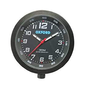 Clock OF218B Motorcycle Clock Black
