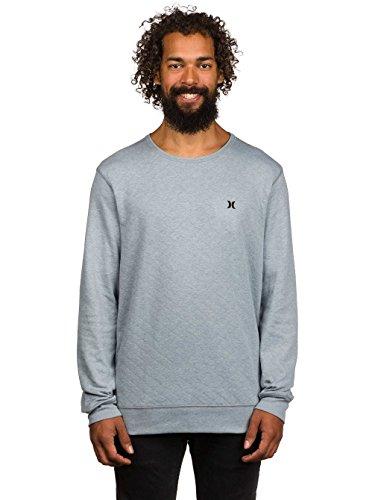 Uomo Sweater Hurley Mainstay Crew Maglione Grigio scuro