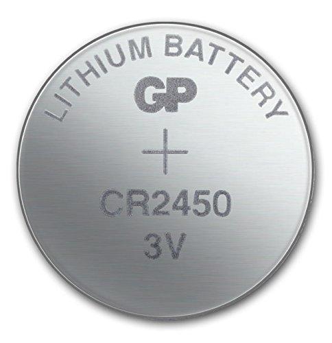 GP Batterien CR2450 3V Lithium Knopfzellen CR 2450 (3 Volt) (10 Stück Knopfbatterien) einzeln entnehmbar