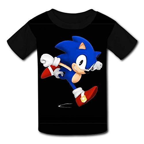 HGdggvd Sonic Unisex T-Shirt Jugend T-Shirt Neuheit T-Shirts Jungen Mädchen Kinder Team Kleidung Crew Neck Tops S.