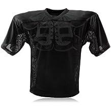 Full Force simple camiseta de entrenamiento de fútbol americano para adultos, todo el año, unisex, color Negro - negro, tamaño M/L