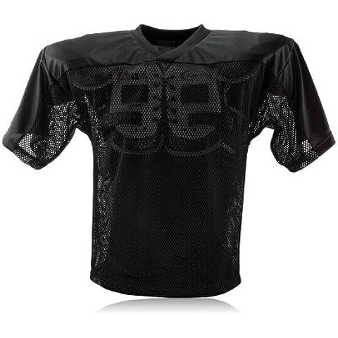Full Force simple camiseta de entrenamiento de fútbol americano para adultos, todo el año, unisex, color Negro - negro, tamaño