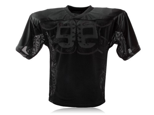 Full Force Erwachsene Trainingstrikot Einfaches American Football Schwarz, XL/2XL