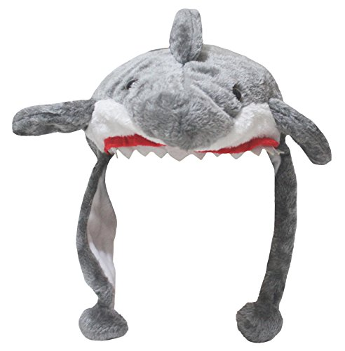 Petitebelle Grey Shark Warm Hat Ocean Fish Animal Costume for Unisex Children (One Size)