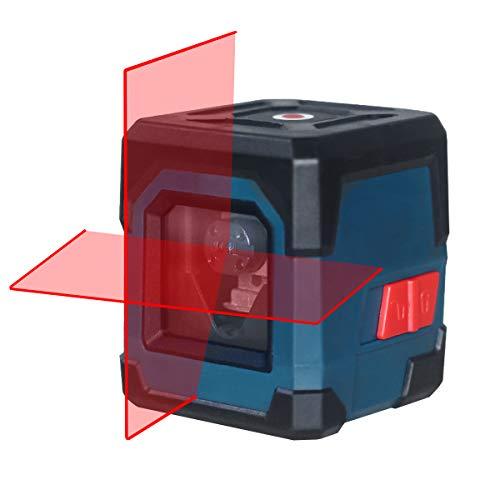 Niveau Laser Autonivelant, HANMATEK LV1 Niveau Laser Rotatif IP54 Anti-éclaboussures 15M Laser Croix Horizontal et Verticale avec étui de Protection et 2 Piles