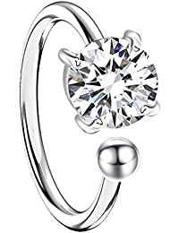 MYA art Damen Ohrklemme Ohrring 925 Silber mit Zirkonia Stein Glitzer Ear  Cuff Fake Ohr Helix 4263cbfe97