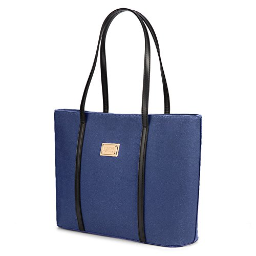 Plambag, Borsa tote donna blu Navy Blue large Navy Blue