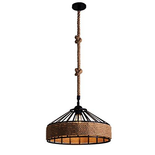 Las lámparas industriales del vintage desvían el zócalo E27 del tenedor de las luces de techo de la cuerda del cáñamo ( Size : S-30cm )