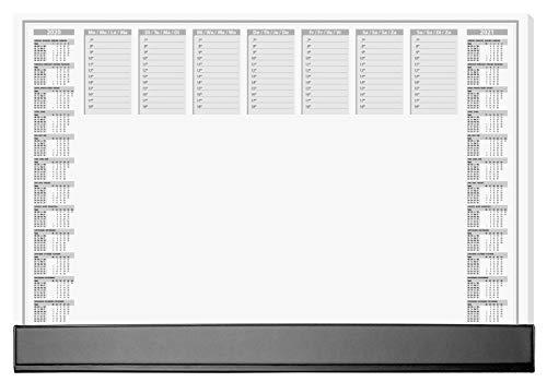 SIGEL HO365 Papier-Schreibunterlage mit Schutzleiste, 2-Jahres-Kalender 2020 2021, ca. DIN A2 , 40 Blatt