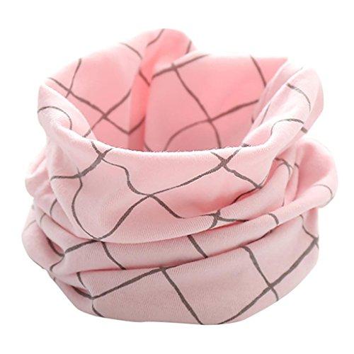 Schals Longra Kinder Baby Jungen Mädchen Neue Schals 2017 Herbst Winter Unisex Baby Nette Schal Baumwolle O Ring Hals Loop Schals Baby Halstücher(0-3Jahre) (Pink)