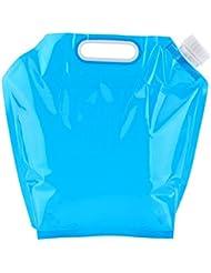 10L Contenedor plegable de agua potable, FLYING_WE Bolsa de agua plegable portador de agua para acampar Senderismo barbacoa de picnic.( Azul )