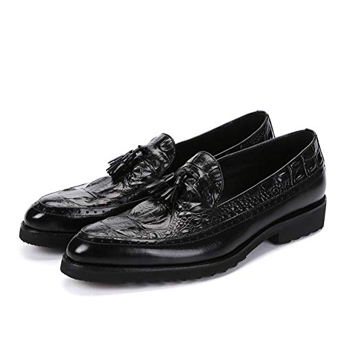 Herren Lederschuhe, Men Black Dress Schuhe Brown Shadow Patent Leder Luxury Fashion Groom Wedding Shoes Men Oxford,A,41 -